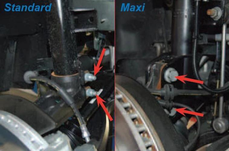 Передние пневматические стойки VW T6